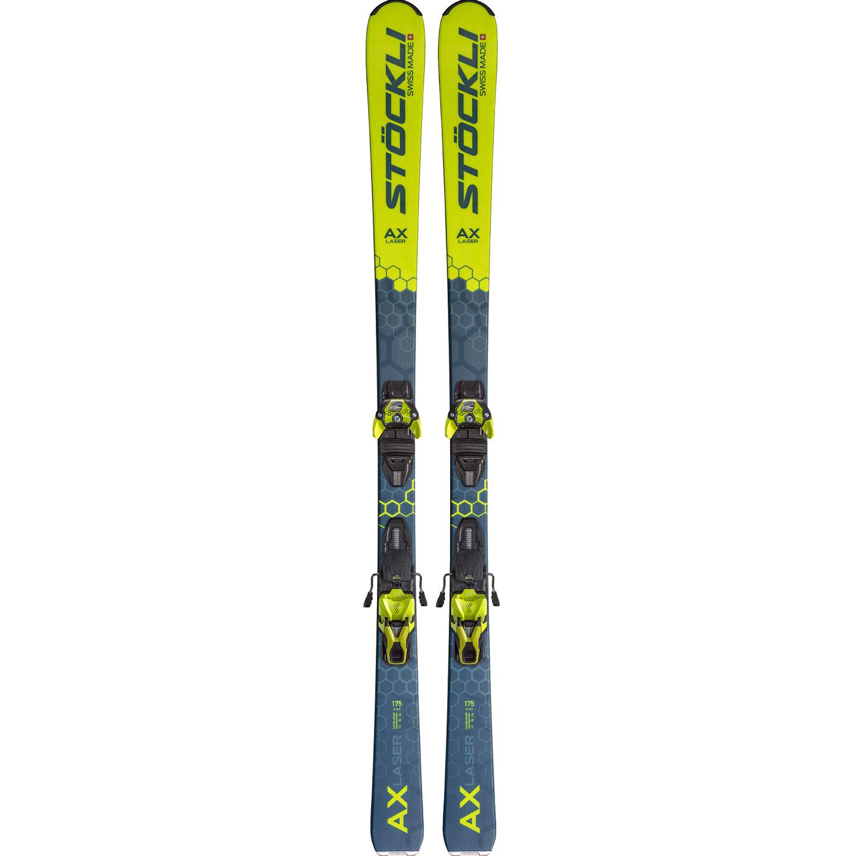 Stockli Laser Ax Dxm 13 Yellow 2021 Ski Binding Intersport Rent Val Gardena